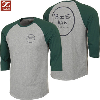 New design custom raglan 3 4 sleeve baseball t shirt buy for Custom raglan baseball shirt