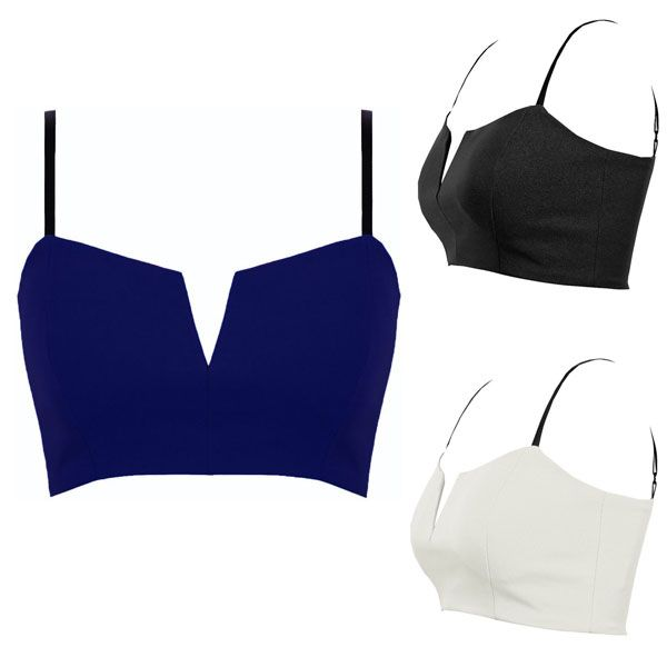 a4faac010c2d3 Get Quotations · Hot Sexy Women Solid Color Deep V Plunge Bustier Bra  Bralette Corset Bodycon Clubwear Party Crop
