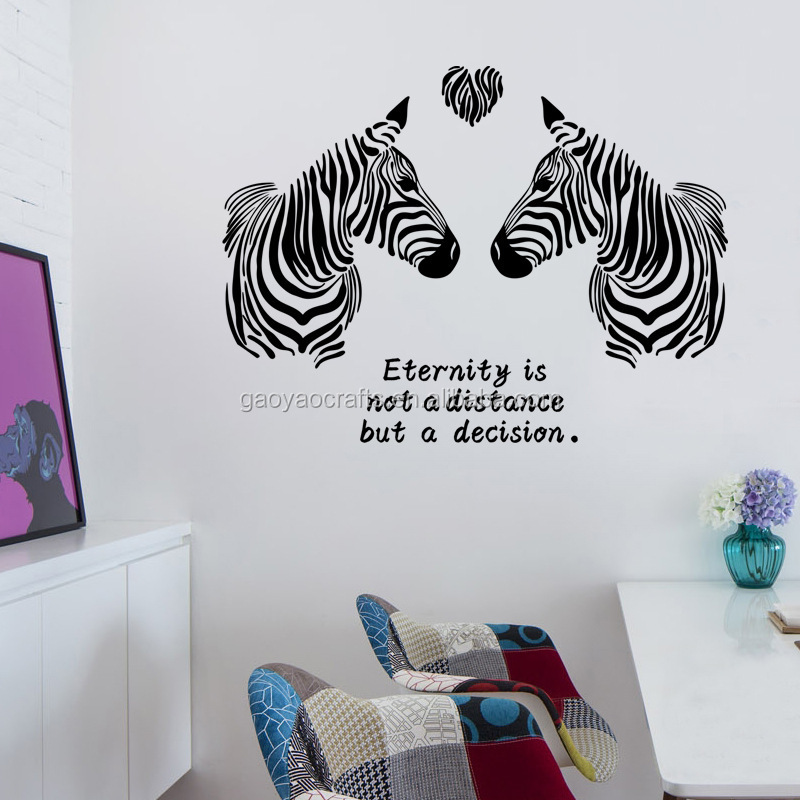 pasangan dari zebra keabadian arti wall sticker diy stiker dekoratif