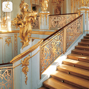 Polished Gold Interior Stainless Steel Stair Railing ...