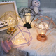 Party Outdoor Unique Hanging Iron Frame Decorative Table Night Light Bulb Chandelier Wall