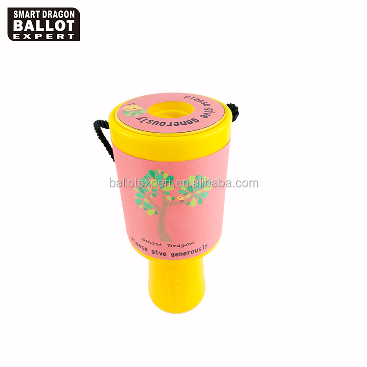 handheld plastic mega charity collection bucket