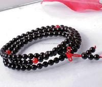 6mm fashion and more character natural black agate gemstone bracelet