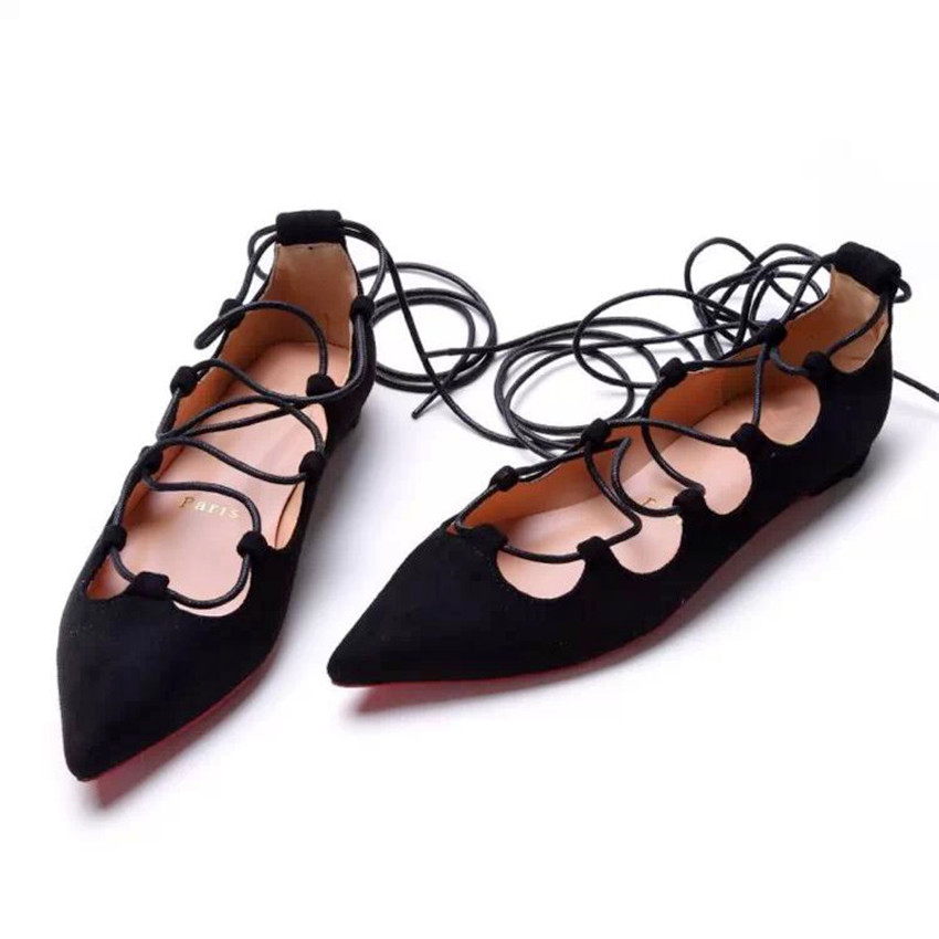 Women Shoes Fashion Women Flats Heel Shoes 2015 New Spring Black Women Genuine Leather Shoes Suede Women Shoes P160