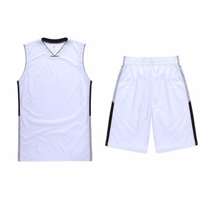 New arrival blank color mesh fabric sleeveless basketball sports jersey for logo design