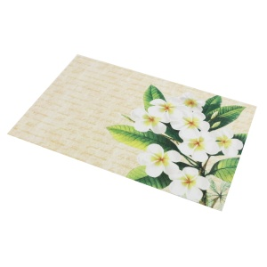 Printed Recycled pvc woven mesh table plate mat