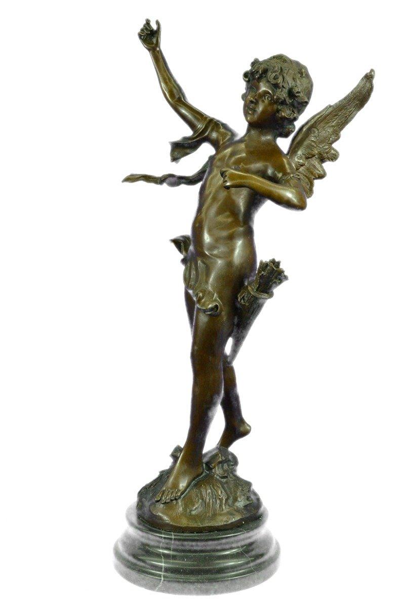 11.38 Inch Cherubs Tending Jesus on The Cross Cold Cast Bronze Statue