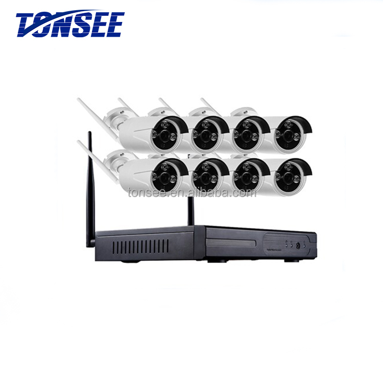 8ch <strong>wifi</strong> 1080P cctv Outdoor 2.0 MP IP 8 channel wireless nvr kit
