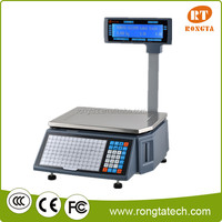 30KG NEW MODEL electronic label printer scale with double LED display