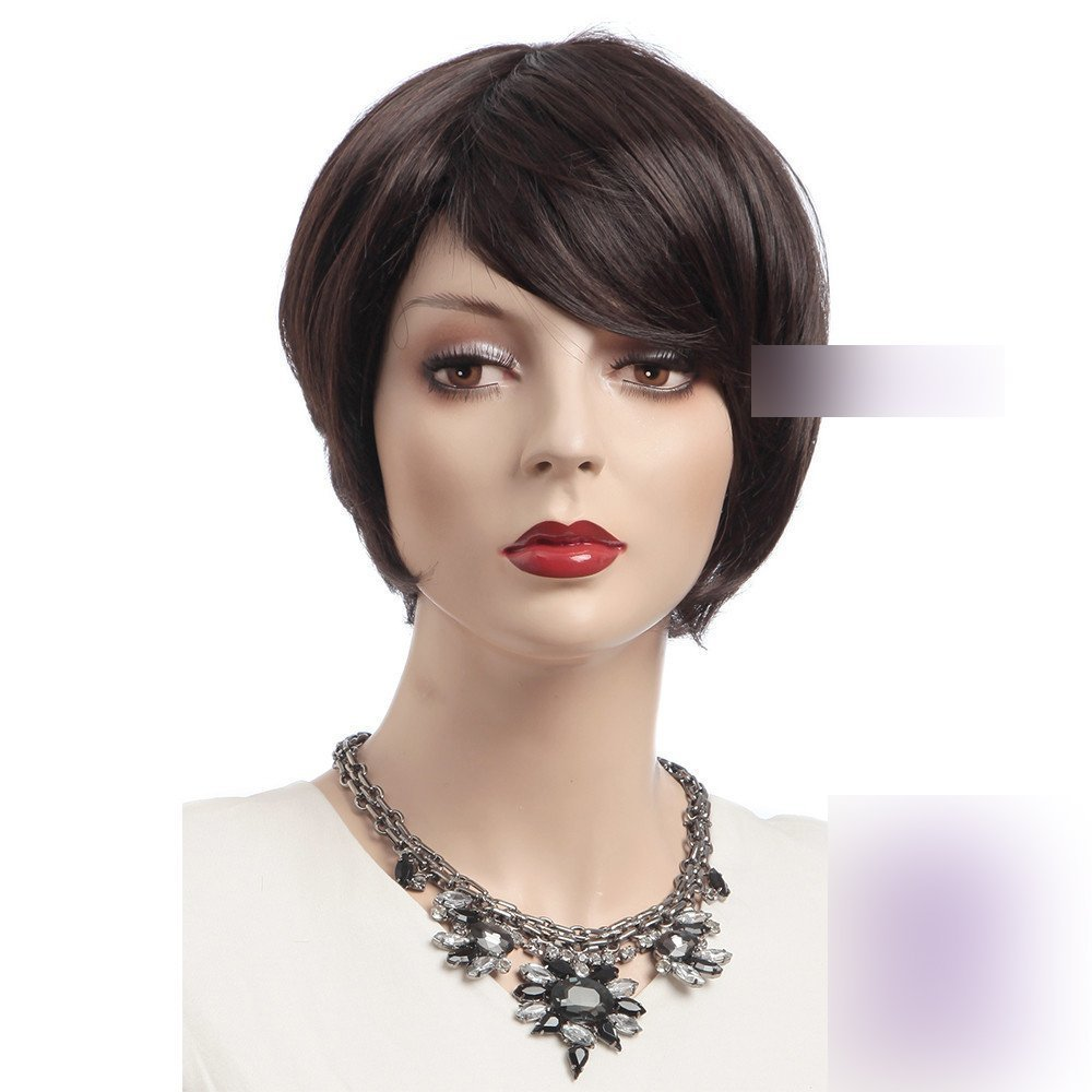 """Coolsky 2.25-6.5 """" Short Wig Dark Brown Soft Wig Fashion Style Women for Wigs Party wig Cosplay wig"""