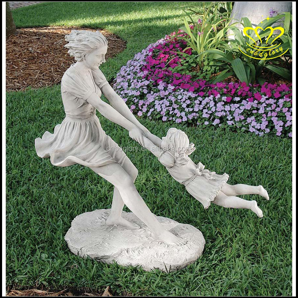 Best Mother And Child Statue White Marble Characters Landscape  DW44