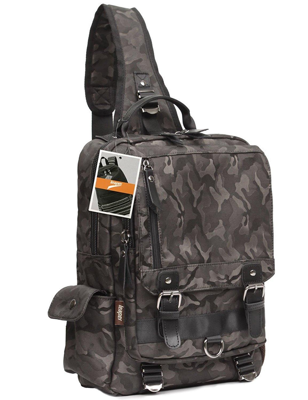 13083c2897 Get Quotations · Leaper Canvas Cross Body Messenger Bag Shoulder Backpack  Travel Rucksack