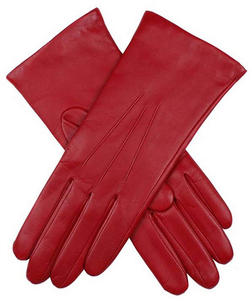 Dents Womens Isabelle Cashmere Lined Hairsheep Leather Gloves - Berry
