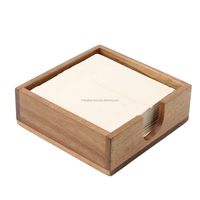 square cheap wood napkin holder