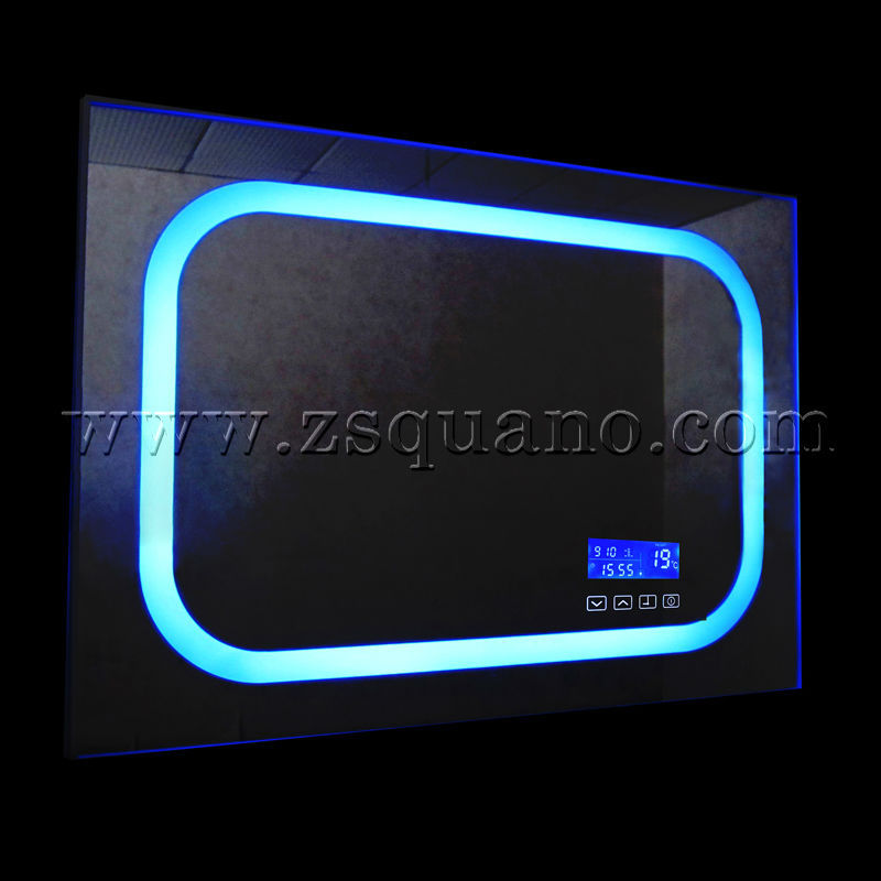 Smart led r tro clair miroir bluetooth mirroir de for Miroir salle de bain led