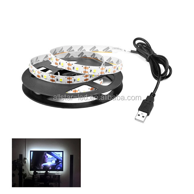 Usb Ed Dc 5v Led Strip Light Rgb White Warm Waterproof Tape Lamp 2835 Flexible Tv Backlight