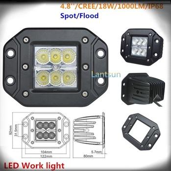 12 Volt Kfz Led Leuchten 18w Unterputz Fuhrte Arbeitsscheinwerfer