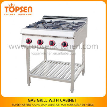 Latest Style Industrial Kitchen Gas Co Ng Cooker Range 4 Burner Gas Stove With Oven