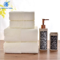 luxury hotel 16s white cotton bath towel set