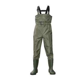china factory fishing wader nylon PVC coat water proof men's chest waders