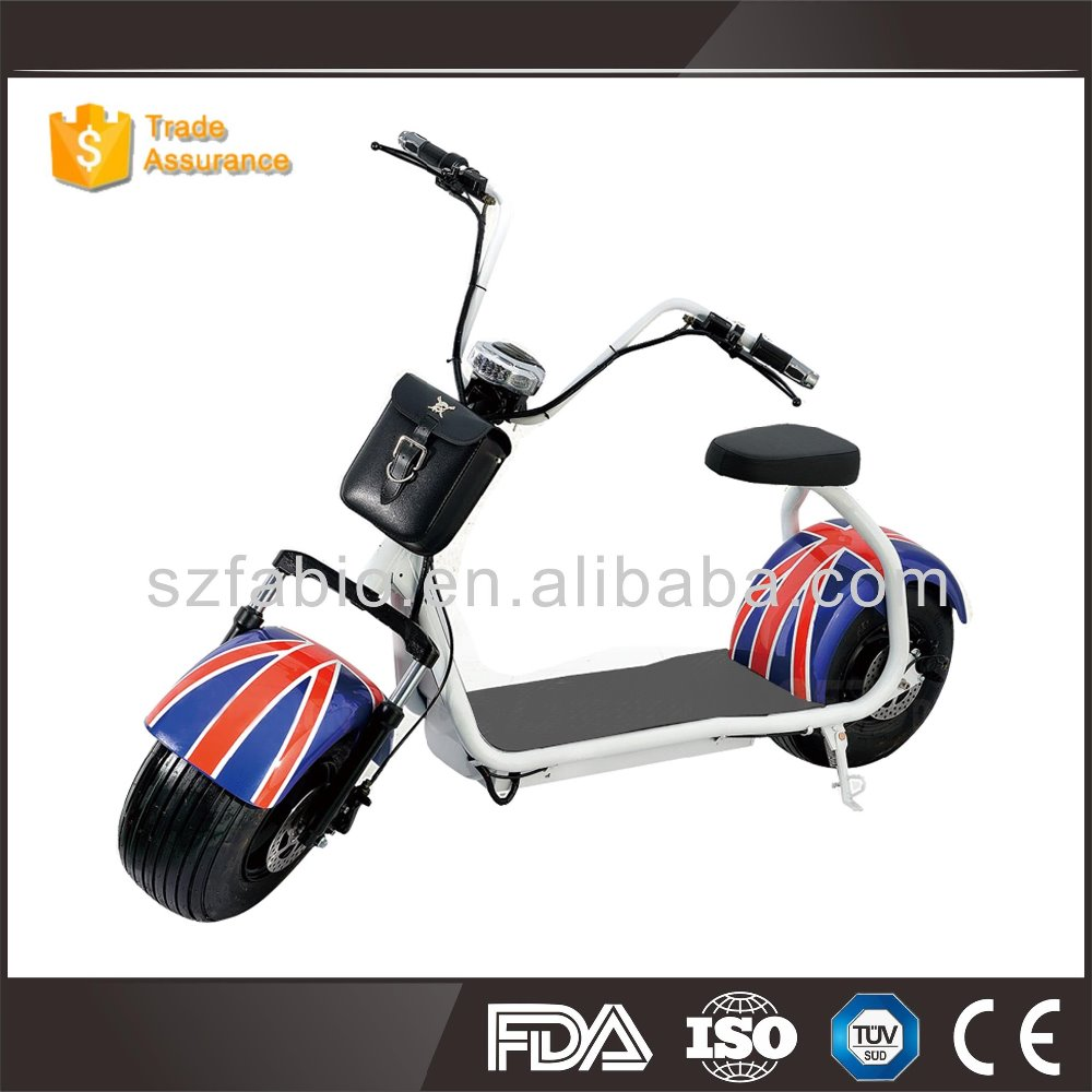Best Quality functional Double seat with LED light 60v kids for citycoco Harley style electric scooter wholesale