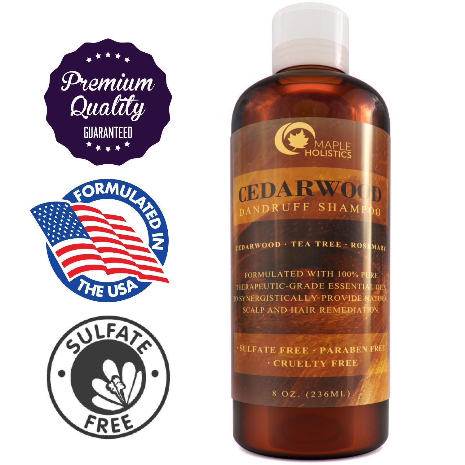 Buy Anti Dandruff Thickening Shampoo With Cedarwood Essential Oil Stop Hair Loss Promote Hair Growth Treat Psoriasis Flakes Scales Make Hair Soft Increase Volume Healthy Scalp Treatment
