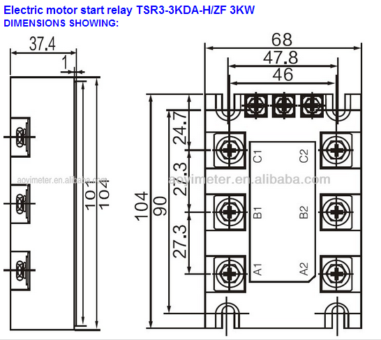 3kw 380vac Relaismodul Solid State Relais Drehstrommotor Und Umkehr ...