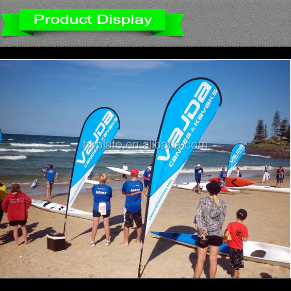 Polyester Teardrop Flag Promotional Usage Advertising Exhibition ...
