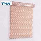 High Quality Semi-black Zebra Blinds Pure Color Window Coverings