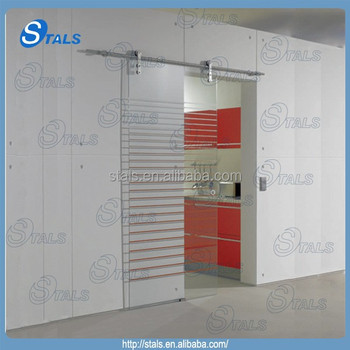 stainless steel glass sliding door glass partition for kitchen