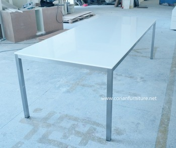 Corian solid surface table top outdoor garden table
