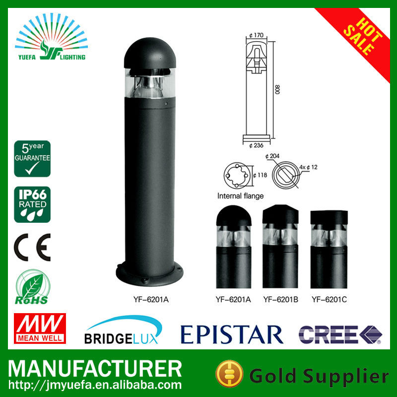 LED Post Bollard Light Factory supply cheap LED garden lamps LED BOLLARD LIGHT USING E27 LAMP BULB