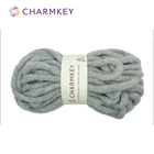 Grey Bulky Chunky Air Yarn Perfect for Blanket Making