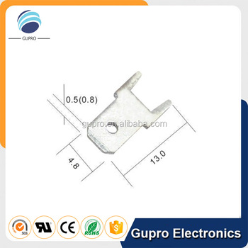 Dj610-4.8x13 187 Male Fuse Terminal