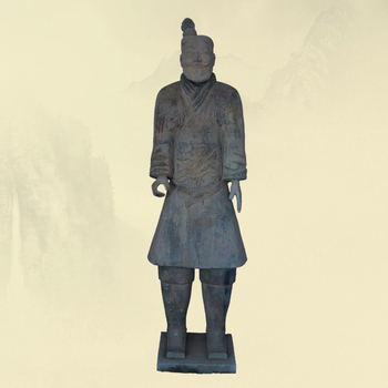 Meilun Chinese Ancient Terracotta Warriors Clay Kilning Carved Life Size Terracotta Army Manufacturer Customizable