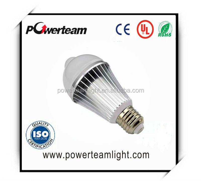 dimmable 6w vocal control and light sensor e27 led light bulb