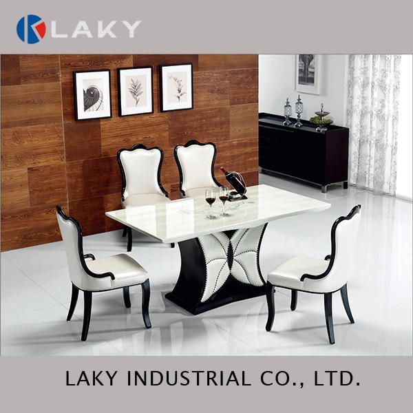 LK-DT1508 Hot sales marble table with printing and butterfly base