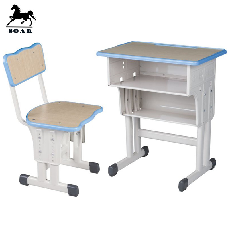 New Product Kids School Desk Dimensions And Chair Parts For
