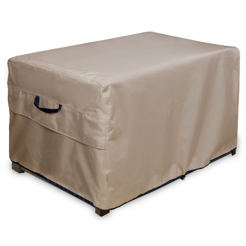 """ULT Cover Patio Deck Box/Storage Bench Cover, 100% Waterproof Outdoor Coffee Table Cover and Ottoman Covers 44""""(L)x28""""(W)x24""""(H)"""
