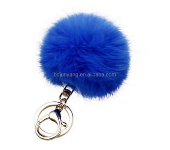 e3198d1aee8 Goedkope konijnenbont pompons bont pom pom tas hanger haarbal sleutelhanger