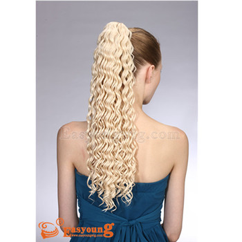 Streak Hair Color Ponytail Curly Pieces Claw Clip In Extension
