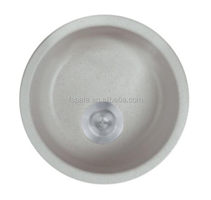 Pate New Style Quartzite Kitchen Sink Roundness Quartz Stone Single Kitchen Sink Without Faucet Holes View Round Quartz Stone Kitchen Sink Pate Product Details From Foshan Pate Sanitary Ware Co Ltd On