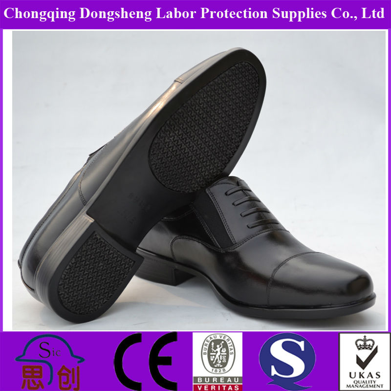 Leather Police Men Dress Shoes