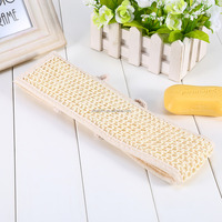 Natural Loofah Sponge Bath Shower Exfoliating Back Strap Body Back Scrubber Skin Health Cleaning Bathroom Products