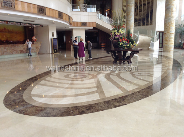 Marble Inlay Flooring Designs : Hotel lobby waterjet marble inlay flooring design buy