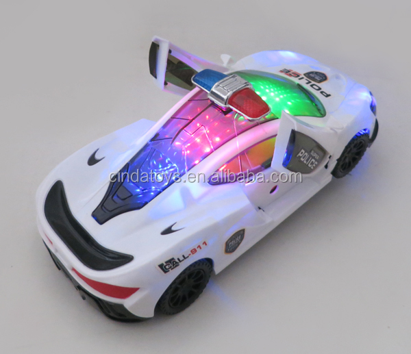 B/O car electric car led lighting open door music and light