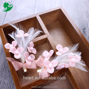 Most popular products bridal hair accessories list soft feather headdress hair clip