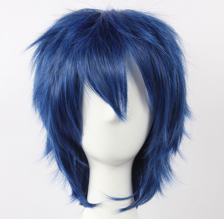 Coolsky Wig Blue Wig Short Blue Layered Wig kaito Wig Mizushima Iku Starry Sk