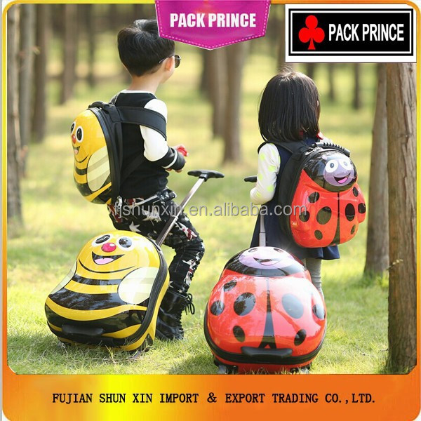 Children lovely luggage school bag/kids hard shell ABS/PC luggage China Supplier