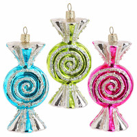 High Quality Colorful Mercury glass candy ornament for christmas tree decoration